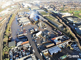 Recycling Site Drone Stockpile Volume Surveys - Birmingham, Midlands