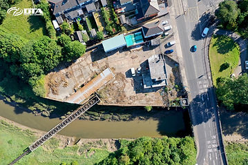 River Embankment & Brownfield Construction Site Drone Inspection & Survey - Cardiff