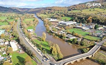 Monmouth A40 & Wye Bridge Aerial Drone Photograph