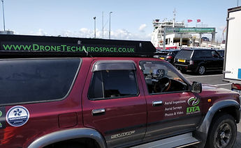 Drone Tech Aerospace team return journey from Cowes, Isle of Wight, Hampshire