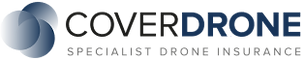 CoverDrone company logo - Drone Tech Aerospace holds professional drone operators insurance for work throughout the United Kingdom.
