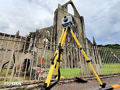 Tintern Abbey - combined aerial drone an
