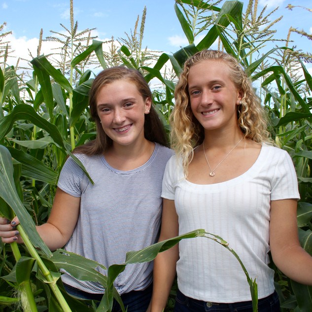 Girls in the corn