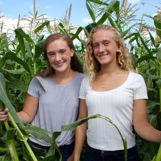Girls in the corn