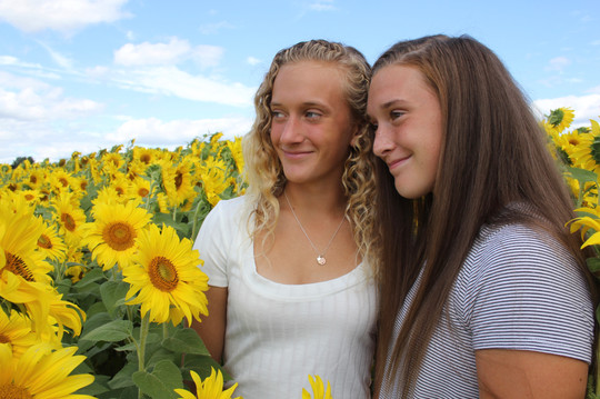 Girls - Sunflowers