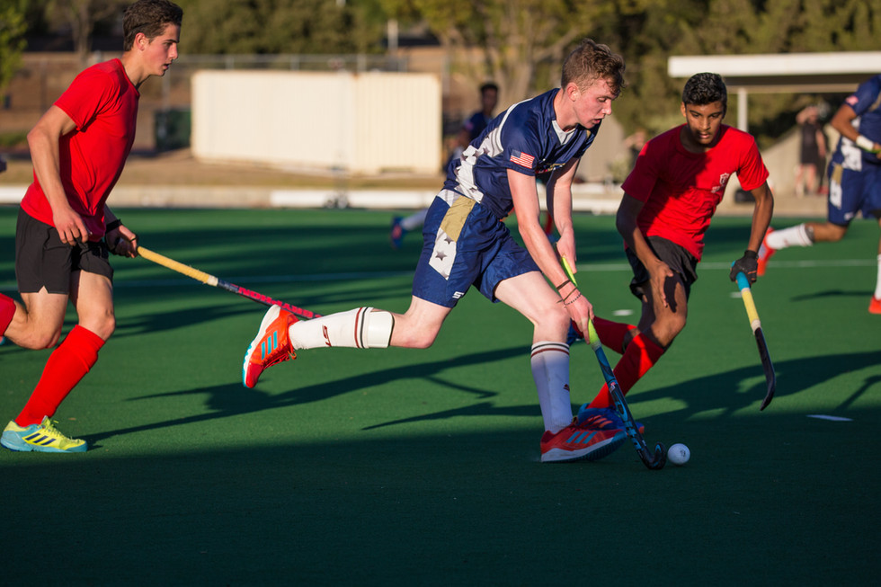 USA Men's Field Hockey - Colin.Blue.Driving with ball