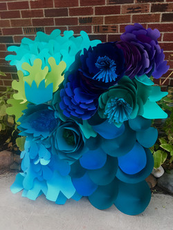 Blue Flowers by GiGi