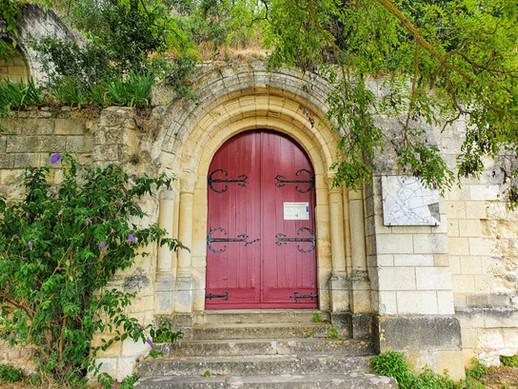 Entrée de la Chapelle St Radegonde