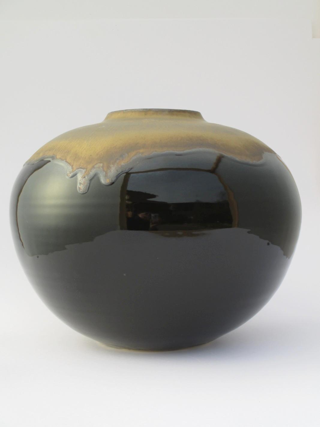 Vase Or et Noir