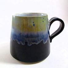 Bock Noir et Bleu Céramique Poterie du Chant de la Fontaine