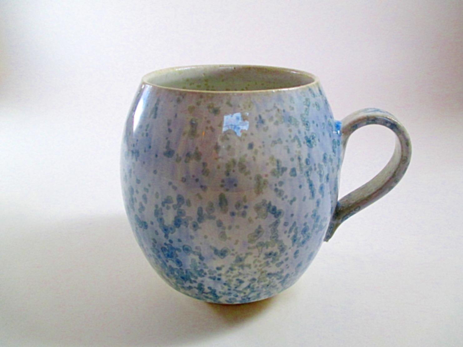 Grand Mug nacré bleu