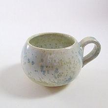 Expresso en céramique nacré bleu Poterie du Chant de la Fontaine