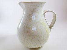 Pichet Nacré Blanc Céramique Poterie du Chant de la Fontaine