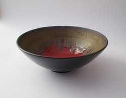 Coupole noire intérieur rouge/or