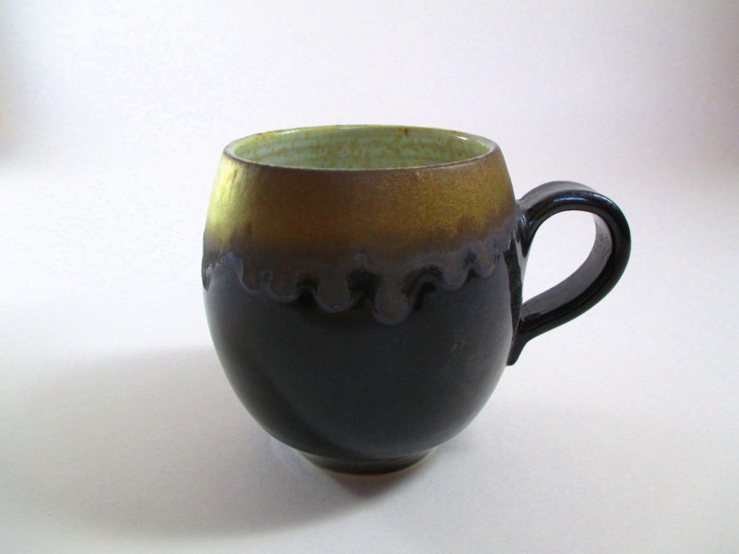 Petit Mug Noir et Or