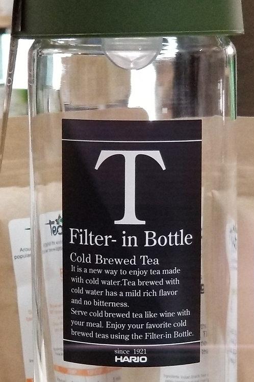 Filter in Bottle Cold Tea Brewer