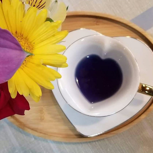 Inside-Out Heart Cup and Saucer