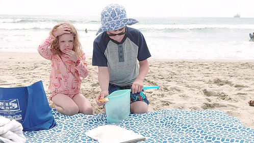 Coco Stripes Silicone Bags at the Beach