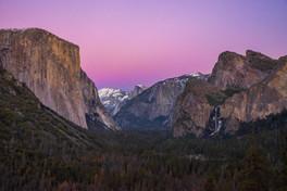 Sunset Afterglow - Yosemite Valley