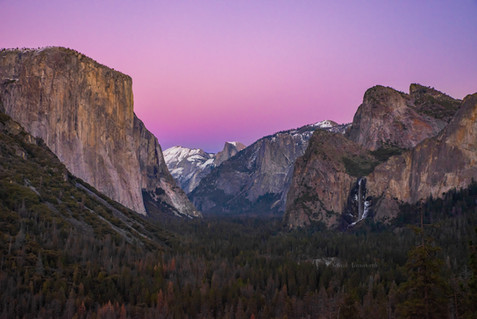Sunset Afterglow - Yosemite Valley - Jan