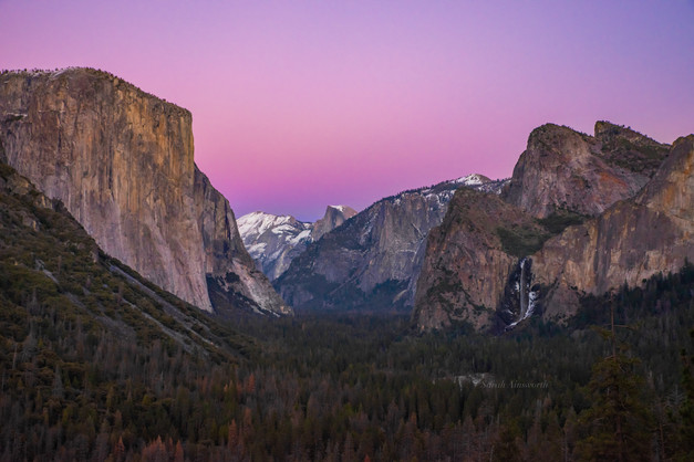 Sunset Afterglow - Yosemite Valley - Jan