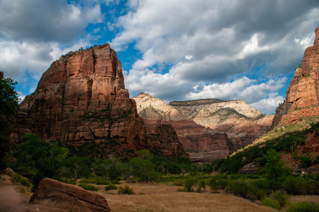 Angels Landing from the Valley, Zion NP