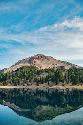 Mt Lassen in Lake Helen