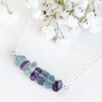 Fluorite Necklace for Color Garden Jewelry