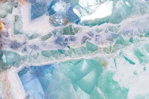 Fluorite Slab image sized for social media--landscape
