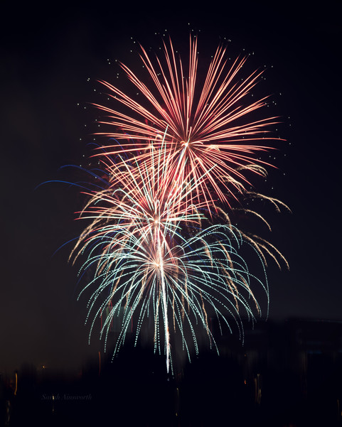 Red, White, and Blue Fireworks