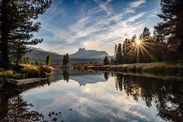 Tuolumne Meadows, Cathedral Rocks Reflect