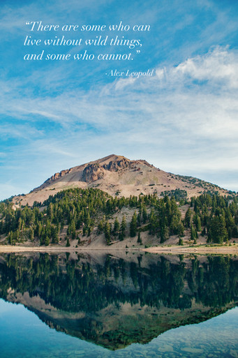 Mt. Lassen at Lake Helen with Quotation