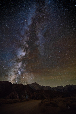 Milky Way over Mt Whitney and Alabama Hi