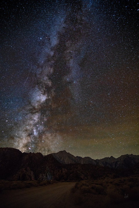 Milky Way over Mt Whitney and Alabama Hi