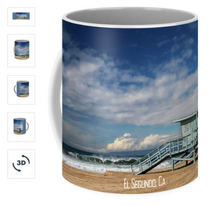 Picture of a mug showing a lifeguard tower