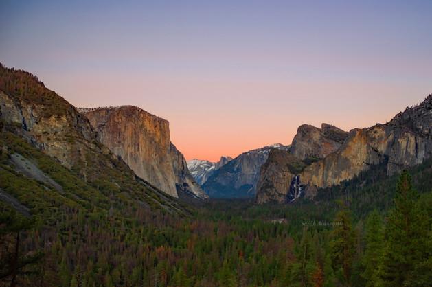Sunset over Yosemite Valley - January 20