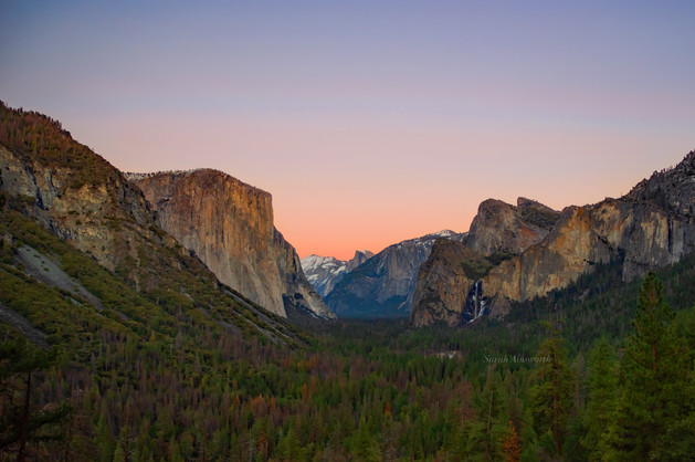 Sunset over Yosemite Valley - January 20