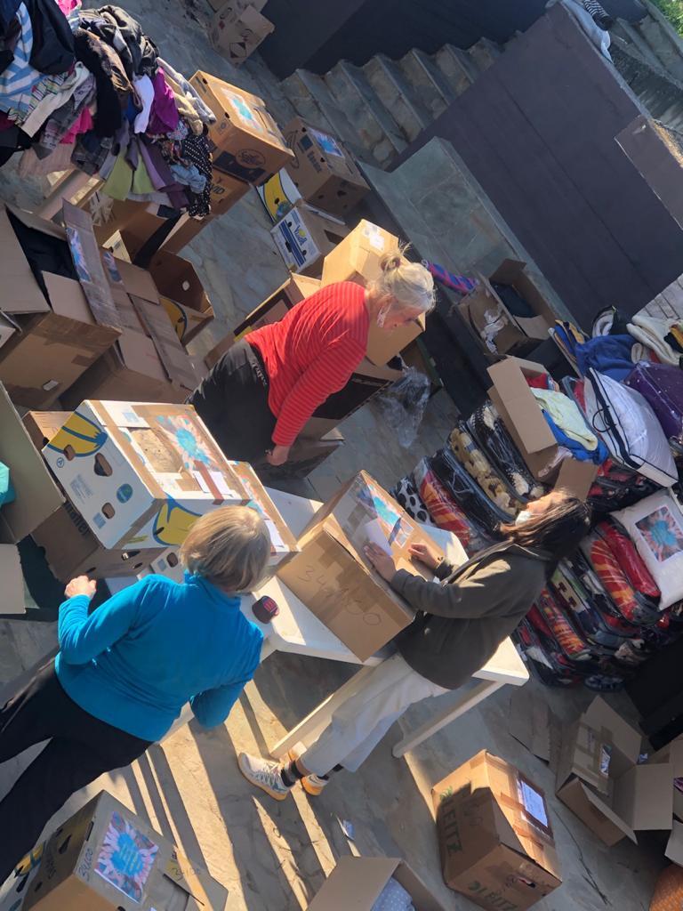 freiwillige Helfer in Griechenland