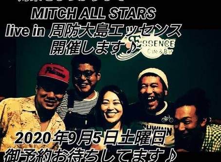 MITCH ALL STARS Liveを開催します