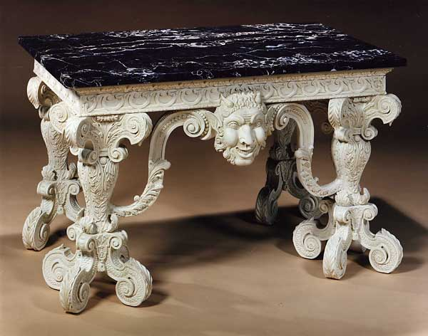 Carved copy of a William Kent table