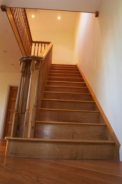 Stairs made from Engish oak