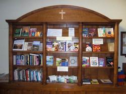 Bookcase in oak for hughenden Church