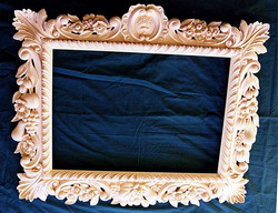 Ornate picture frame, carved in lime wood