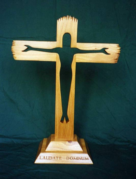 Elm Cross with figure of Christ cut out