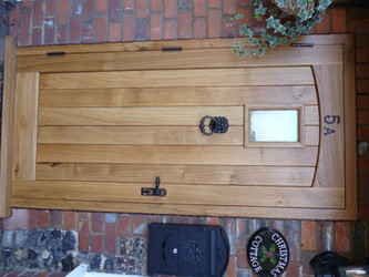 Solid English oak door and frame