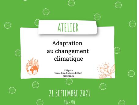 Atelier adaptation au changement climatique dans le cadre de la semaine du Développement Durable