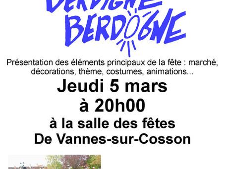 Réunion publique Berdigne-Berdogne 5 mars  à 20h00.