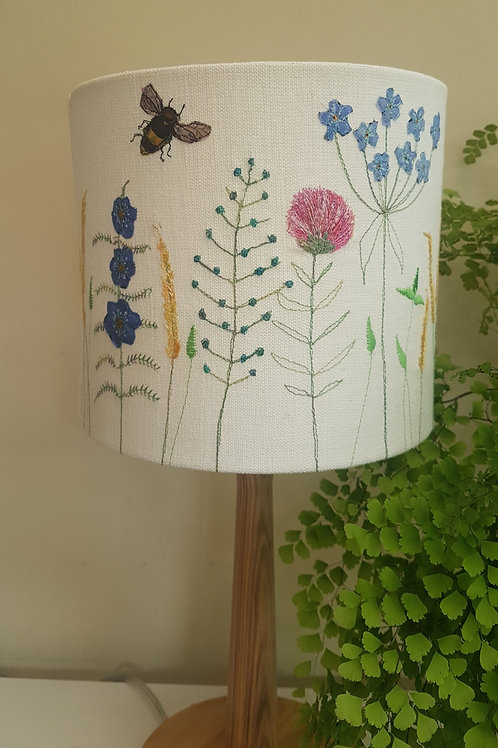 Handmade embroidered lampshade