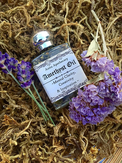 Amethyst Oil~Mental Clarity~Creativeness, Goddess oil
