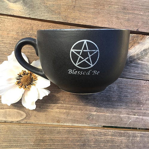 Blessed Be Witches Pentacle Coffee Mug